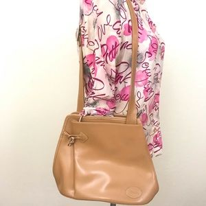 Longchamp Carmel Brown Leather Purse